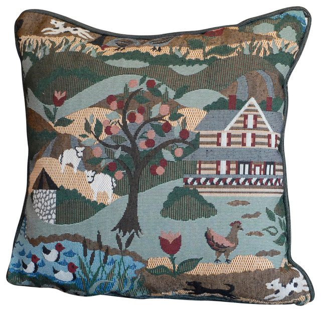 Country Farm Square 17 Quot X17 Quot Throw Pillow Farmhouse