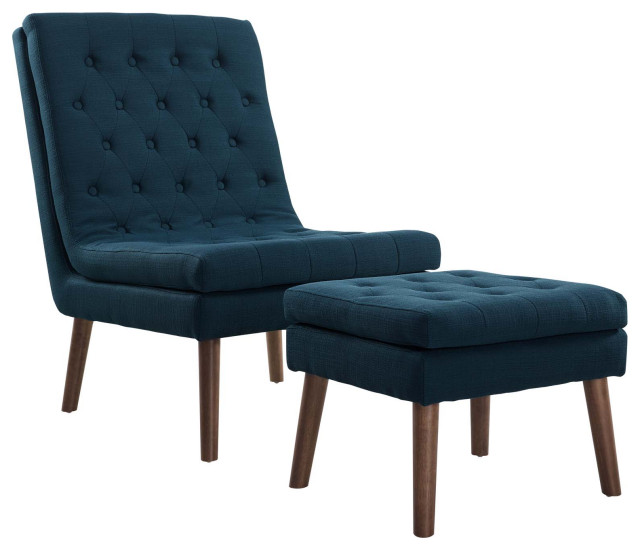 Azure Modify Upholstered Lounge Chair and Ottoman