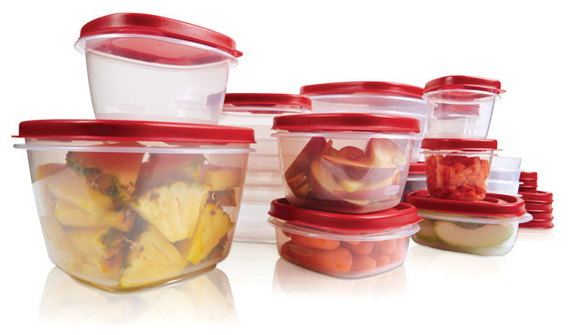 Rubbermaid Food Storage Container Set, 40-Piece, Square