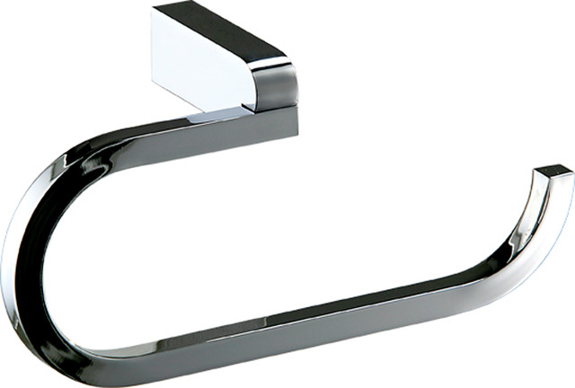 Musa Wall Bathroom Towel Ring Holder, Polished Chrome