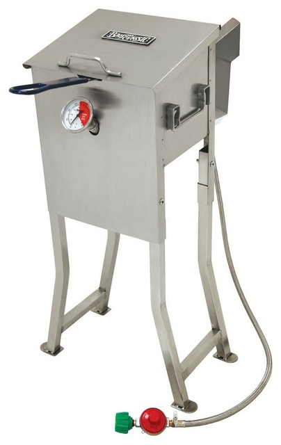 2.5-Gallon Stainless Bayou Fryer.