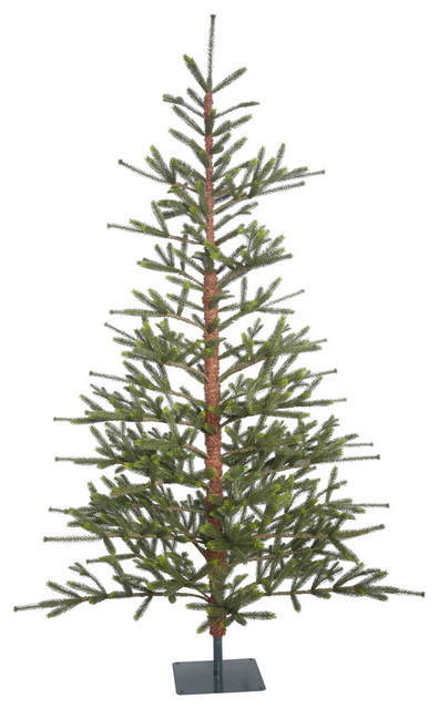 Bed Rock Pine Full Green Christmas Tree in Metal Stand, 7'x57""
