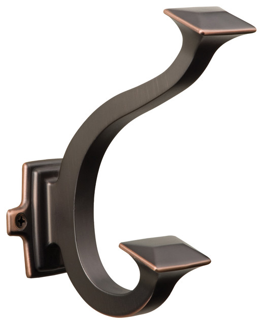 Bungalow Hook, Oil-Rubbed Bronze by Hickory Hardware