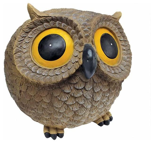 Gentil Wide Giant Eye Hilarious Garden Owl Statue
