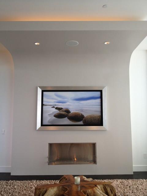 Minimalist home design photo in Houston