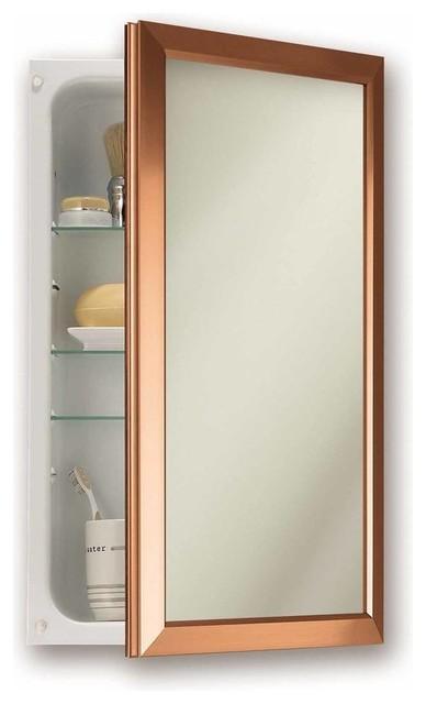 Surface Mount Recessed Single Door Medicine Cabinet.