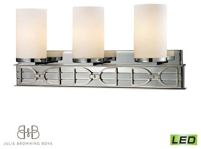 Campolina Collection 3-Light Bath In Polished Chrome
