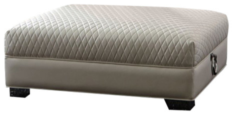 Fine Coaster Chaviano Large Ottoman With Quilted Top Alphanode Cool Chair Designs And Ideas Alphanodeonline