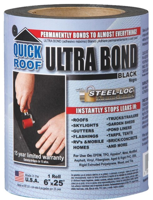Cofair Products 6 X25 Black Roof Repair Ubb625 Contemporary Roofing And Gutters By Hipp Hardware Plus