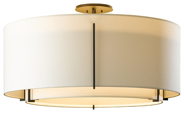 Hubbardton Forge (126505) 3 Light Exos Semi-Flush.