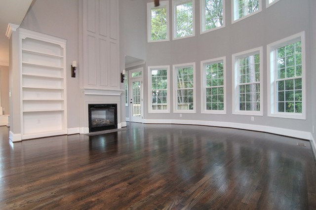 Great Room With Window Wall Traditional Raleigh By