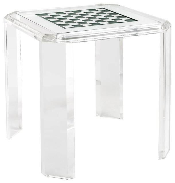 High Quality Opie Modern Classic Acrylic Checker Board Game Table Modern Game Tables
