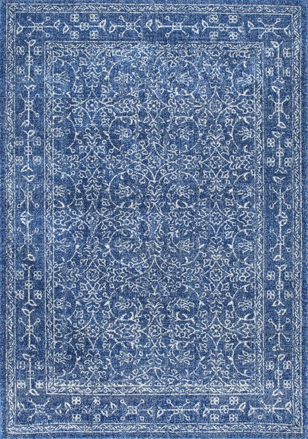 Nuloom 4 X6 Vintage Waddell Rug Dark Blue Contemporary Area Rugs