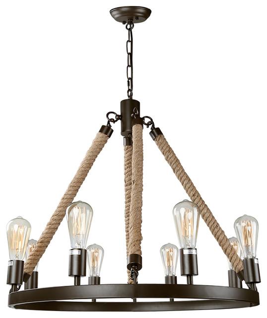 LNC 8-Light Bronze Farmhouse Pendant Lighting Fixtures, Kitchen Island light