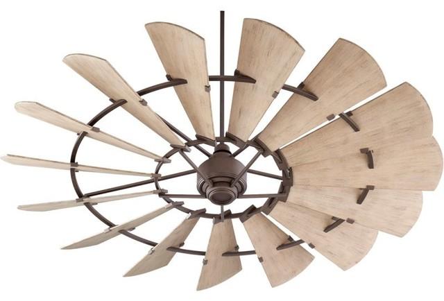 Quorum International 197215 Windmill 15 Blade Outdoor Dc Ceiling Fan, 72.