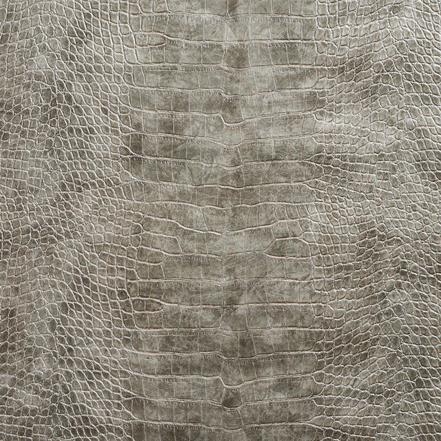 Gray Metallic Alligator Faux Leather Vinyl By The Yard