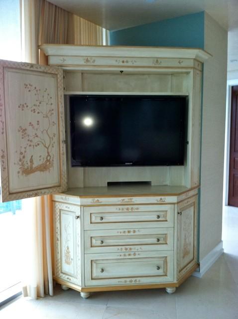 Custom Corner Entertainment Cabinet - Traditional - DC ...