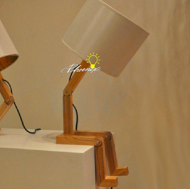 Lovely Wood Boy Table Lamp - Contemporary - Table Lamps - New York ...