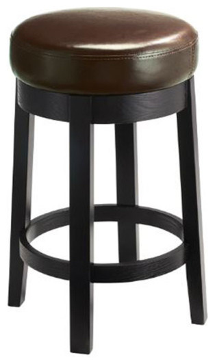 Swivel Leather Stool Contemporary Bar Stools And