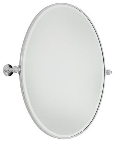 Minka Lavery 1433-77 Large Oval Pivoting Bathroom Mirror.