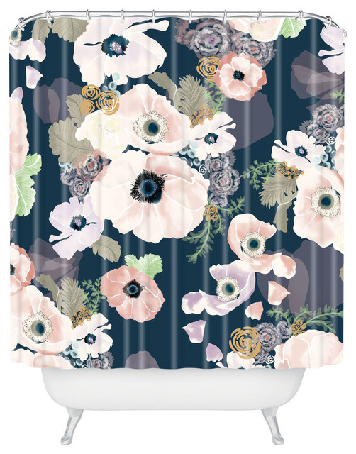 Deny Designs Khristian A Howell Une Femme In Blue Shower Curtain ...