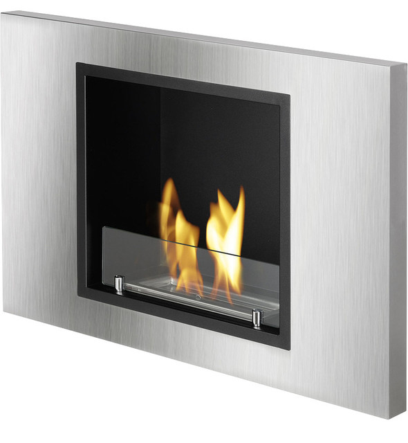 Lima recessed ventless ethanol fireplace modern indoor for Ventless fireplace modern