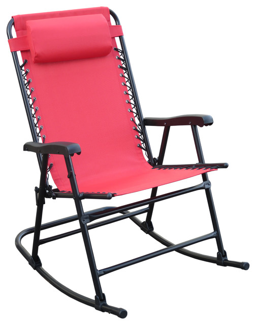 Arlington Rex Folding Rocking Chair Red Modern Outdoor Rocking Chairs