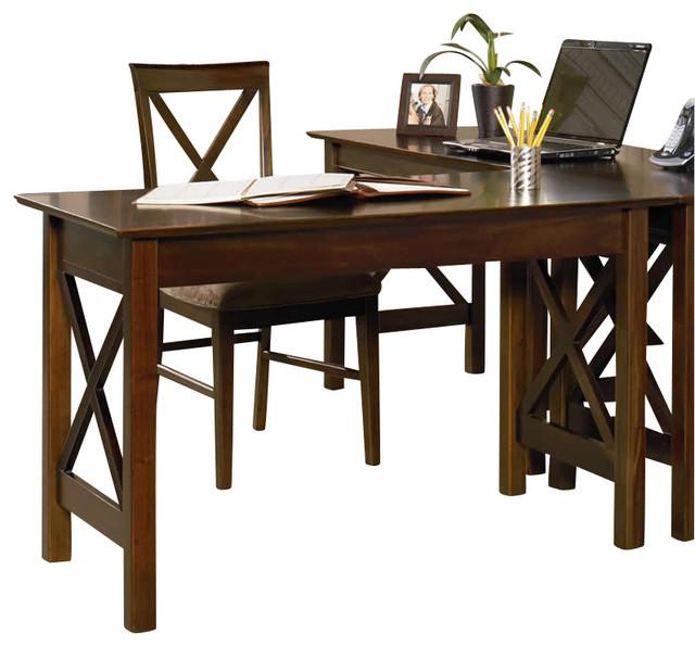 Atlantic Furniture Lexington Work Table In Antique Walnut.