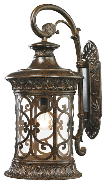 Orlean 1-Light Large Outdoor Sconce, Hazelnut Bronze.