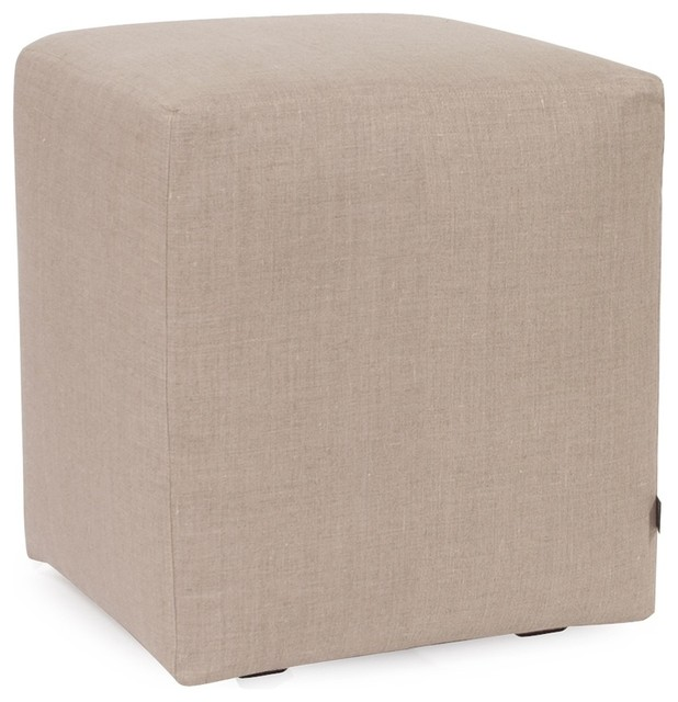 Prairie Linen Natural Universal Cube Ottoman contemporary-footstools-and- ottomans - Prairie Linen Natural Universal Cube Ottoman - Contemporary