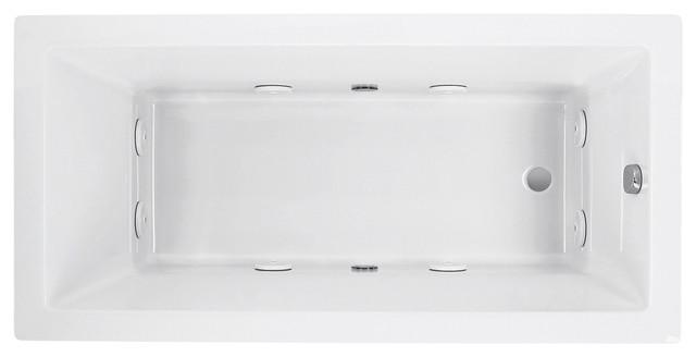 730 Cierra Elite System Bathtub, Rectangular, White, 8-Jet.