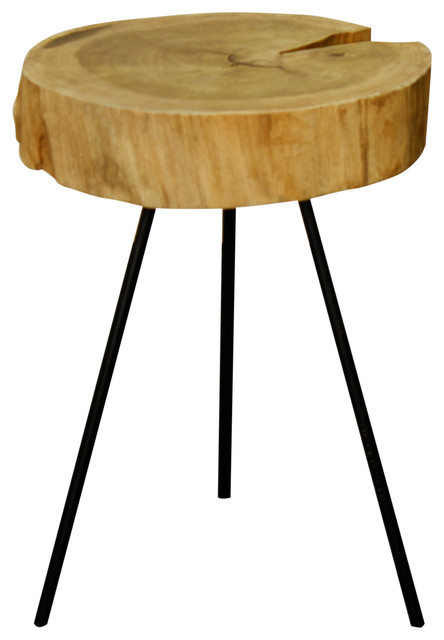 lombardi end table natural
