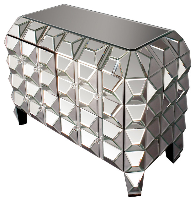 Glam Spiked Mirrored Chest.