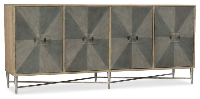 Hooker Furniture Melange Zola Four-Door Credenza.