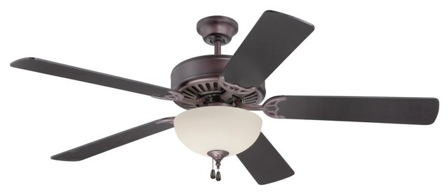 Craftmade K11105 Pro Builder 202 52 5-Blade Indoor Ceiling Fan, Oiled Bronze.
