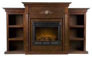 Tennyson Eco Friendly Electric Fireplace Bookcase Indoor