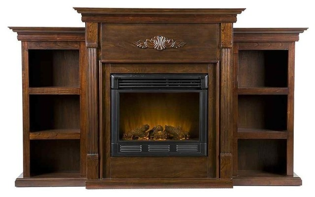 Tennyson Eco-Friendly Electric Fireplace Bookcase.