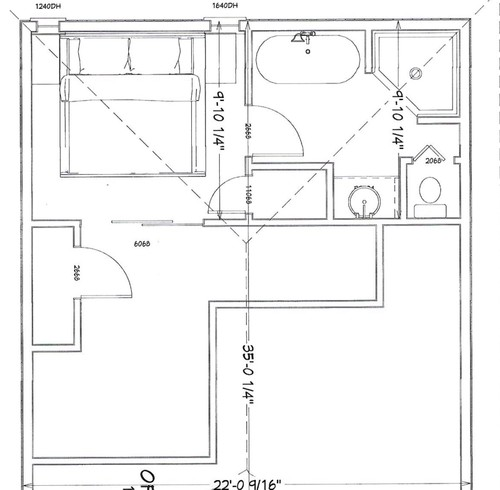 Help with small master bathroom layout please