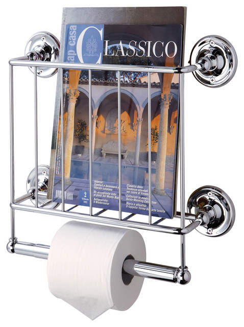 Wall Mount Magazine Rack Chrome Modern Magazine Racks By