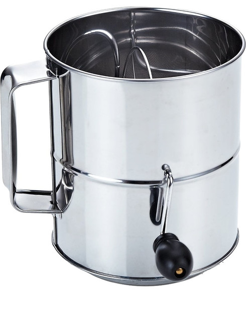 Cook N Home Stainless Steel 8-Cup Flour Sifter.