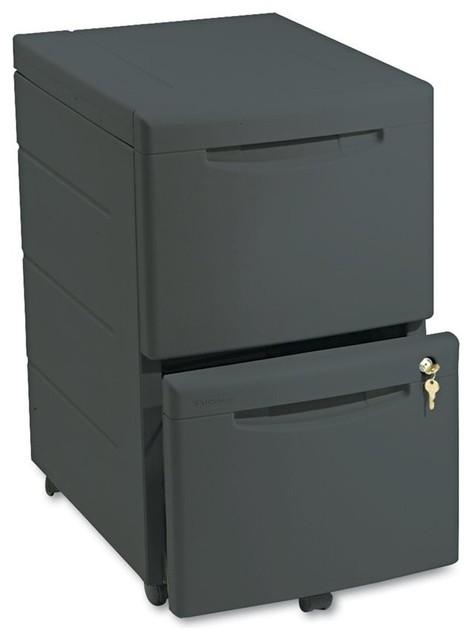 Iceberg Iceberg Aspira 2-Drawer Mobile Underdesk Pedestal File - Filing Cabinets | Houzz