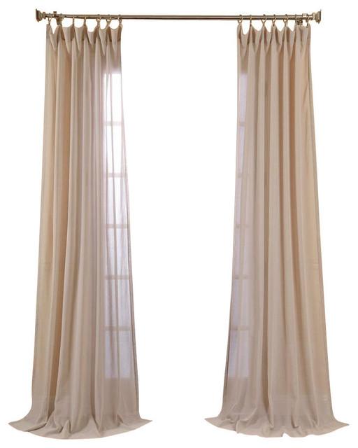 Tumbleweed faux linen sheer curtain single panel for Linen sheer window panels