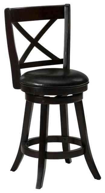 Tremendous Jofran Aaron Pub X Back Swivel Stool Set Of 2 Creativecarmelina Interior Chair Design Creativecarmelinacom