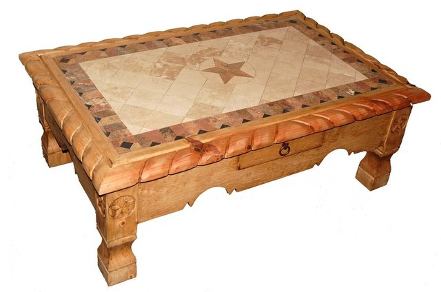 Million Dollar Rustic Marble Rope Trim Coffee Table With Star Details View In Your Room Houzz