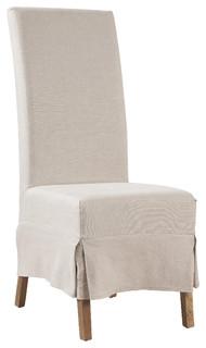 Marlett Skirted Linen Parsons Chair, Set of 2 ...