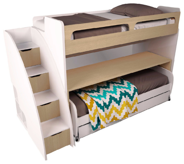 Shop houzz multimo bel mondo twin bunk bed with sofa for Double bed and sofa set