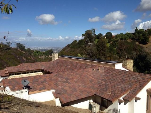 Boral Saxony Slate Tile Roof And Skylights Rancho Palos