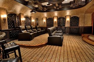 Custom Theater Room Houston Par Kbc Construction