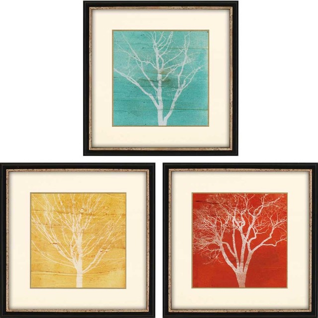 Paragon Scenic Contemporary Fallen Leaves Pack of 3 Wall Art ...