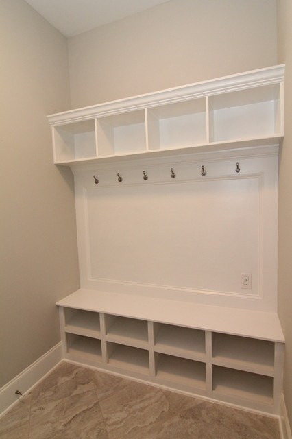 Foyer Storage Zones : Drop zone for the mud room contemporary raleigh by